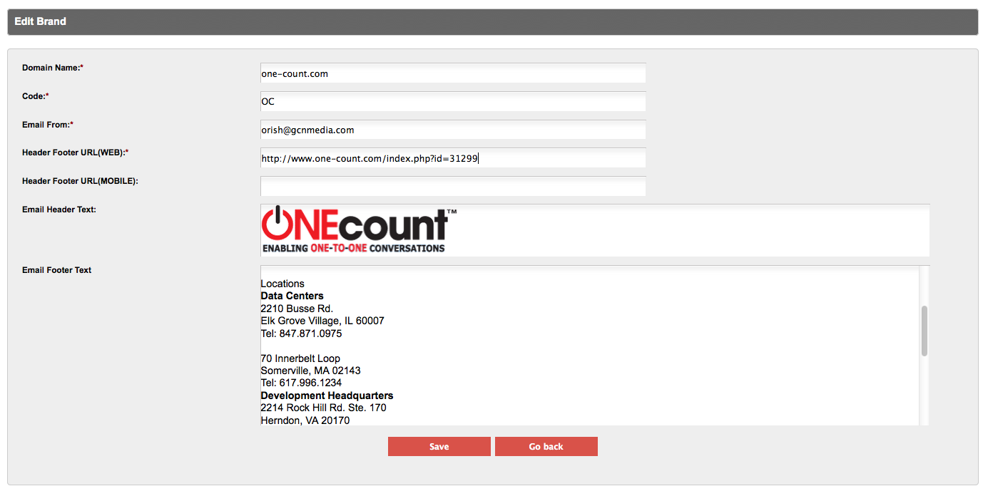 Brand compliant web forms and landing pages