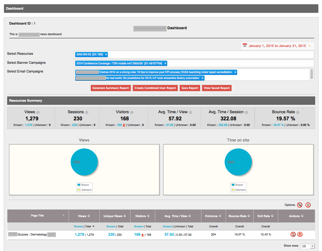 ONEcount's self-service dashboard provides full lead generation capabilities across all web properties with self-service login and reporting by advertisers.