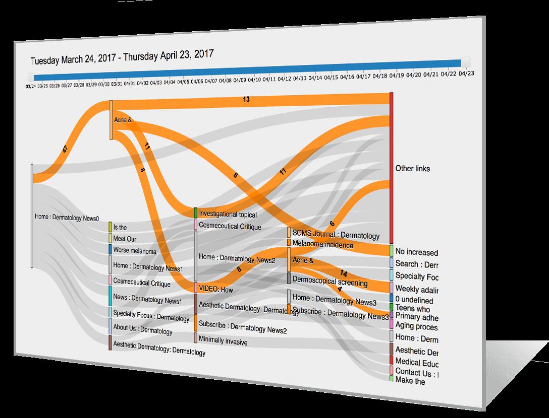 Customer Journey Visualization Sankey
